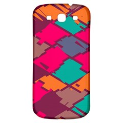 Pieces In Retro Colors			samsung Galaxy S3 S Iii Classic Hardshell Back Case by LalyLauraFLM