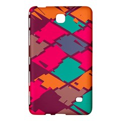 Pieces In Retro Colors			samsung Galaxy Tab 4 (7 ) Hardshell Case by LalyLauraFLM