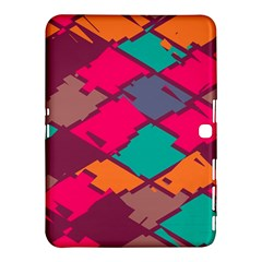 Pieces In Retro Colors			samsung Galaxy Tab 4 (10 1 ) Hardshell Case by LalyLauraFLM