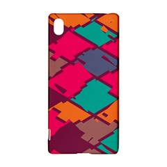 Pieces in retro colors			Sony Xperia Z3+ Hardshell Case