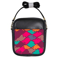 Pieces In Retro Colorsgirls Sling Bag by LalyLauraFLM