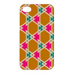 Connected Shapes Patternapple Iphone 4/4s Hardshell Case by LalyLauraFLM