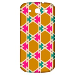 Connected Shapes Patternsamsung Galaxy S3 S Iii Classic Hardshell Back Case by LalyLauraFLM