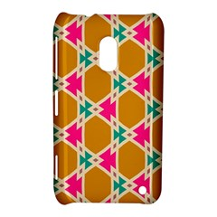 Connected Shapes Pattern			nokia Lumia 620 Hardshell Case by LalyLauraFLM
