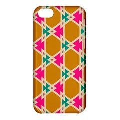 Connected Shapes Pattern			apple Iphone 5c Hardshell Case by LalyLauraFLM