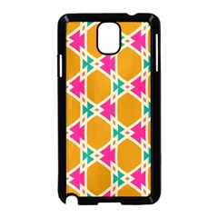 Connected Shapes Patternsamsung Galaxy Note 3 Neo Hardshell Case (black) by LalyLauraFLM
