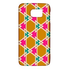 Connected Shapes Pattern			samsung Galaxy S6 Hardshell Case by LalyLauraFLM