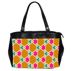 Connected Shapes Pattern Oversize Office Handbag (2 Sides) by LalyLauraFLM