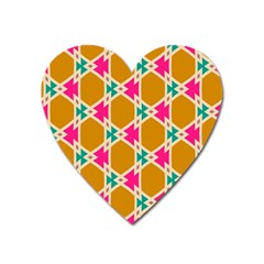 Connected Shapes Patternmagnet (heart) by LalyLauraFLM