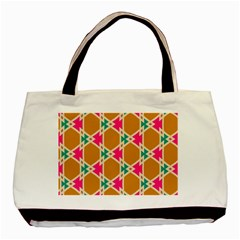 Connected Shapes Pattern			basic Tote Bag by LalyLauraFLM