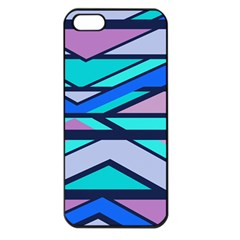 Angles And Stripesapple Iphone 5 Seamless Case (black) by LalyLauraFLM