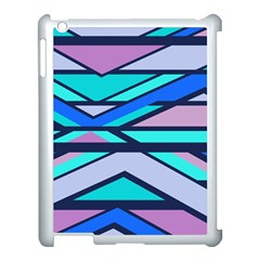Angles And Stripesapple Ipad 3/4 Case (white) by LalyLauraFLM