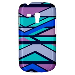 Angles And Stripessamsung Galaxy S3 Mini I8190 Hardshell Case by LalyLauraFLM