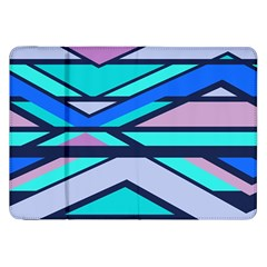 Angles And Stripessamsung Galaxy Tab 8 9  P7300 Flip Case by LalyLauraFLM