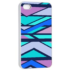 Angles And Stripesapple Iphone 4/4s Seamless Case (white) by LalyLauraFLM
