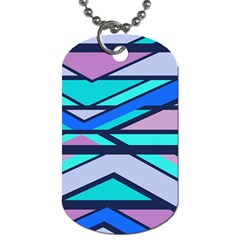 Angles And Stripesdog Tag (one Side) by LalyLauraFLM