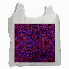 Intricate Patterned Textured  Recycle Bag (one Side) by dflcprints