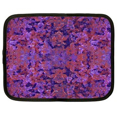 Intricate Patterned Textured  Netbook Case (xxl)  by dflcprints