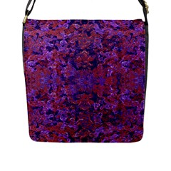 Intricate Patterned Textured  Flap Messenger Bag (l)  by dflcprints