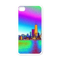Chicago Colored Foil Effects Apple Iphone 4 Case (white)