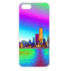 Chicago Colored Foil Effects Apple Iphone 5 Seamless Case (white)
