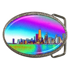 Chicago Colored Foil Effects Belt Buckles by canvasngiftshop