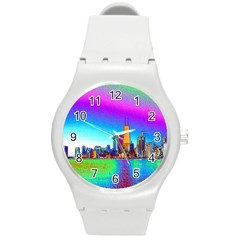 Chicago Colored Foil Effects Round Plastic Sport Watch (m)