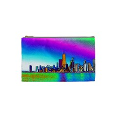 Chicago Colored Foil Effects Cosmetic Bag (small)
