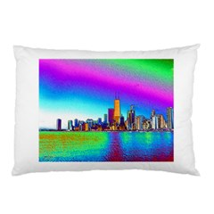 Chicago Colored Foil Effects Pillow Cases by canvasngiftshop