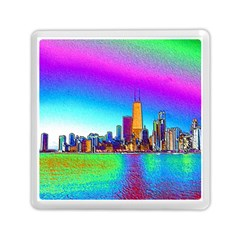 Chicago Colored Foil Effects Memory Card Reader (square)