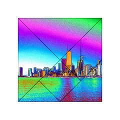 Chicago Colored Foil Effects Acrylic Tangram Puzzle (4  X 4 ) by canvasngiftshop