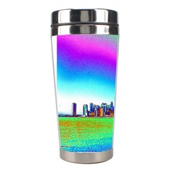 Chicago Colored Foil Effects Stainless Steel Travel Tumblers