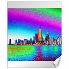 Chicago Colored Foil Effects Canvas 11  X 14