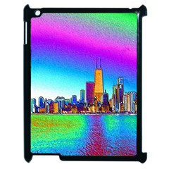 Chicago Colored Foil Effects Apple Ipad 2 Case (black) by canvasngiftshop
