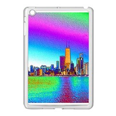 Chicago Colored Foil Effects Apple Ipad Mini Case (white)
