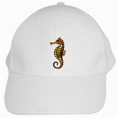 Seahorse Yllw White Baseball Cap by oddzodd