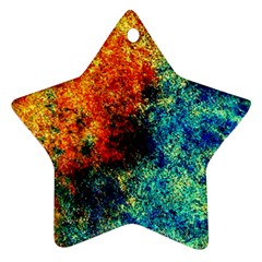 Orange Blue Background Ornament (star)