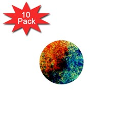 Orange Blue Background 1  Mini Magnet (10 Pack)  by Costasonlineshop