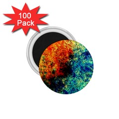Orange Blue Background 1 75  Magnets (100 Pack)  by Costasonlineshop