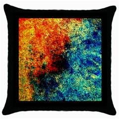 Orange Blue Background Throw Pillow Cases (black) by Costasonlineshop