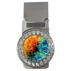 Orange Blue Background Money Clips (cz)  by Costasonlineshop