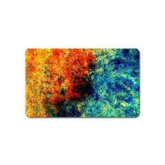 Orange Blue Background Magnet (name Card) by Costasonlineshop
