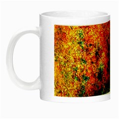 Orange Blue Background Night Luminous Mugs by Costasonlineshop