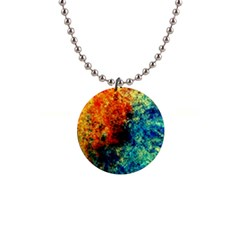 Orange Blue Background Button Necklaces by Costasonlineshop