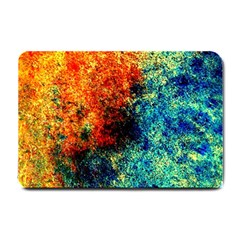Orange Blue Background Small Doormat