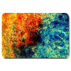 Orange Blue Background Large Doormat  by Costasonlineshop