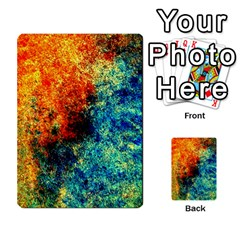 Orange Blue Background Multi Purpose Cards (rectangle)  by Costasonlineshop