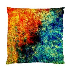 Orange Blue Background Standard Cushion Case (one Side)  by Costasonlineshop