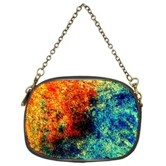 Orange Blue Background Chain Purses (two Sides)