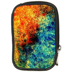 Orange Blue Background Compact Camera Cases